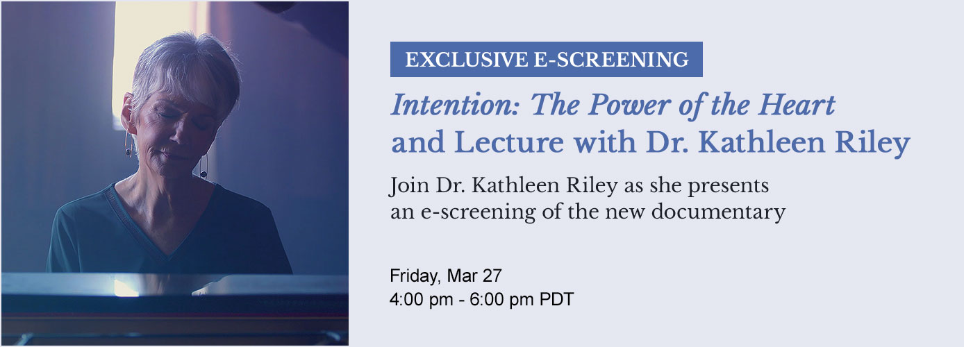 Event: Exclusive E-Screening and Lecture with Dr. Kathleen Riley